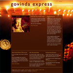 Home page for Govinda Express